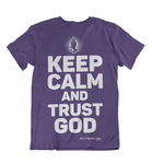 Womens t shirts Keep calm and trust GOD - oldprophet.com