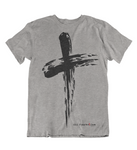 Mens t shirt Grunge Cross - oldprophet.com