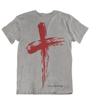 Womens t shirts Grunge cross - oldprophet.com