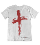 Mens t shirts Grunge cross - oldprophet.com
