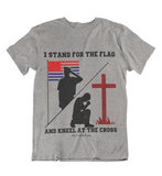 Mens t shirts Stand fo the flag Kneel for the cross - oldprophet.com
