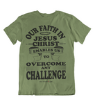 Mens t shirts Overcome any challenge - oldprophet.com