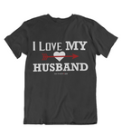 Womens t shirts I love my husband - oldprophet.com