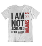 Mens t shirts I am not ashamed of the gospel - oldprophet.com