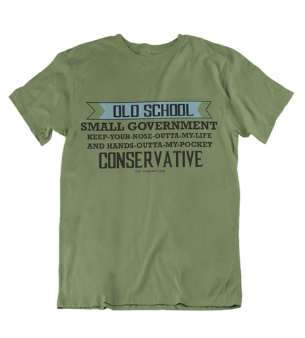 Mens t shirts Old School Conservative - oldprophet.com