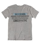 Womens t shirts Old school conservative - oldprophet.com