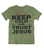 Mens t shirts Keep Calm and trust JESUS - oldprophet.com