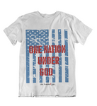 Womens t shirts One nation under GOD - oldprophet.com