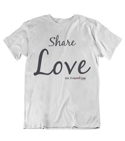 Mens t shirt  Share Love - oldprophet.com