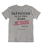 Womens t shirts Salvation in JESUS - oldprophet.com
