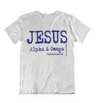 Womens t shirts JESUS the ALPHA and OMEGA - oldprophet.com