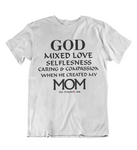 Womens T shirts GOD created Mom - oldprophet.com