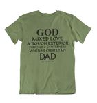 Mens t shirts  GOD created my Dad - oldprophet.com