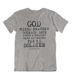 Womens T shirts GOD created the soldier - oldprophet.com