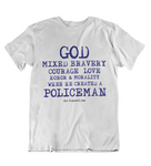 Mens t shirts  GOD created the policeman - oldprophet.com