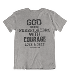 Womens T shirts GOD created firefighters - oldprophet.com