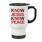 Christian Travel Mug No Jesus know peace - oldprophet.com