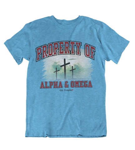Womens t shirts Property of Alpha and Omega - oldprophet.com