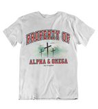 Mens t shirts Property of Alpha and Omega - oldprophet.com