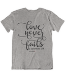 Womens t shirts Because he first loved us - oldprophet.com