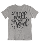 Womens t shirts It is well with my soul - oldprophet.com