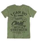 Mens t shirts I can do all things through CHRIST who strengthens me - oldprophet.com