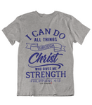 Womens t shirts I can do all things through CHRIST - oldprophet.com