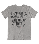 Womens t shirts Wonderfully made - oldprophet.com