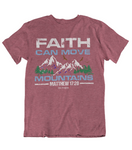 Womens t shirts Faith can move mountains - oldprophet.com