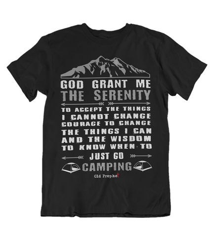 Womens t shirts Just go camping - oldprophet.com