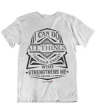 Womens t shirts All things through christ who strengthens me - oldprophet.com