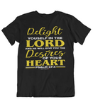 Womens t shirts Delight yourself in the Lord - oldprophet.com