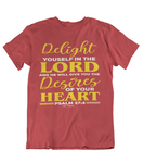 Mens t shirt Delight yourself in the lord - oldprophet.com