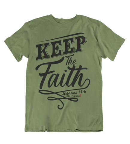 Mens t shirts Keep the faith - oldprophet.com