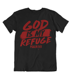 Womens t shirts GOD is my refuge - oldprophet.com