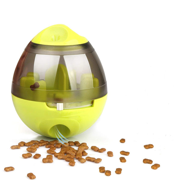 yani creative egg shape tumbler pet food dispenser dog cat toy pet training interactive ball for