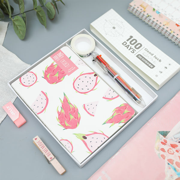 Fruit Print 100 Days Project Planner Set