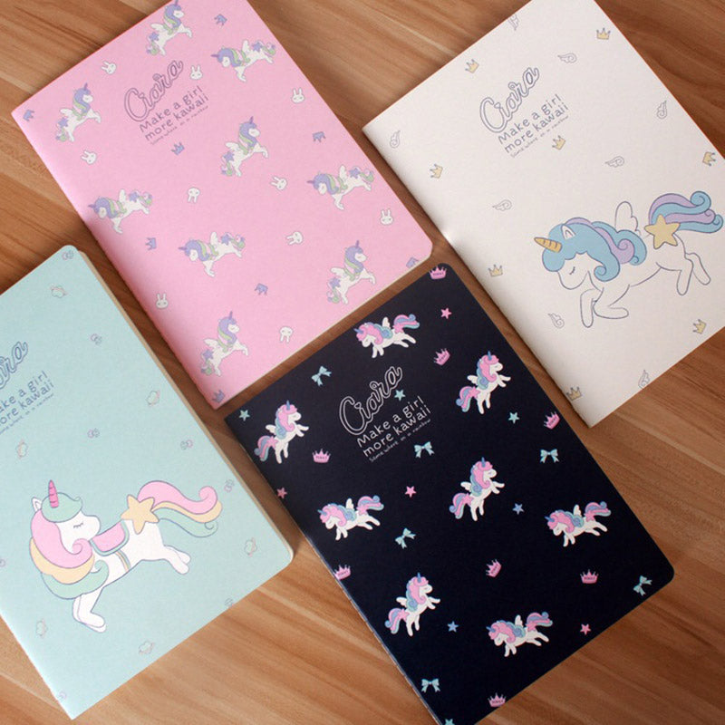 Cute Unicorn Cover Notebook for Students