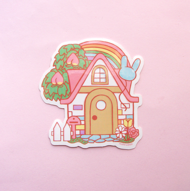 Animal Crossing House Vinyl Sticker