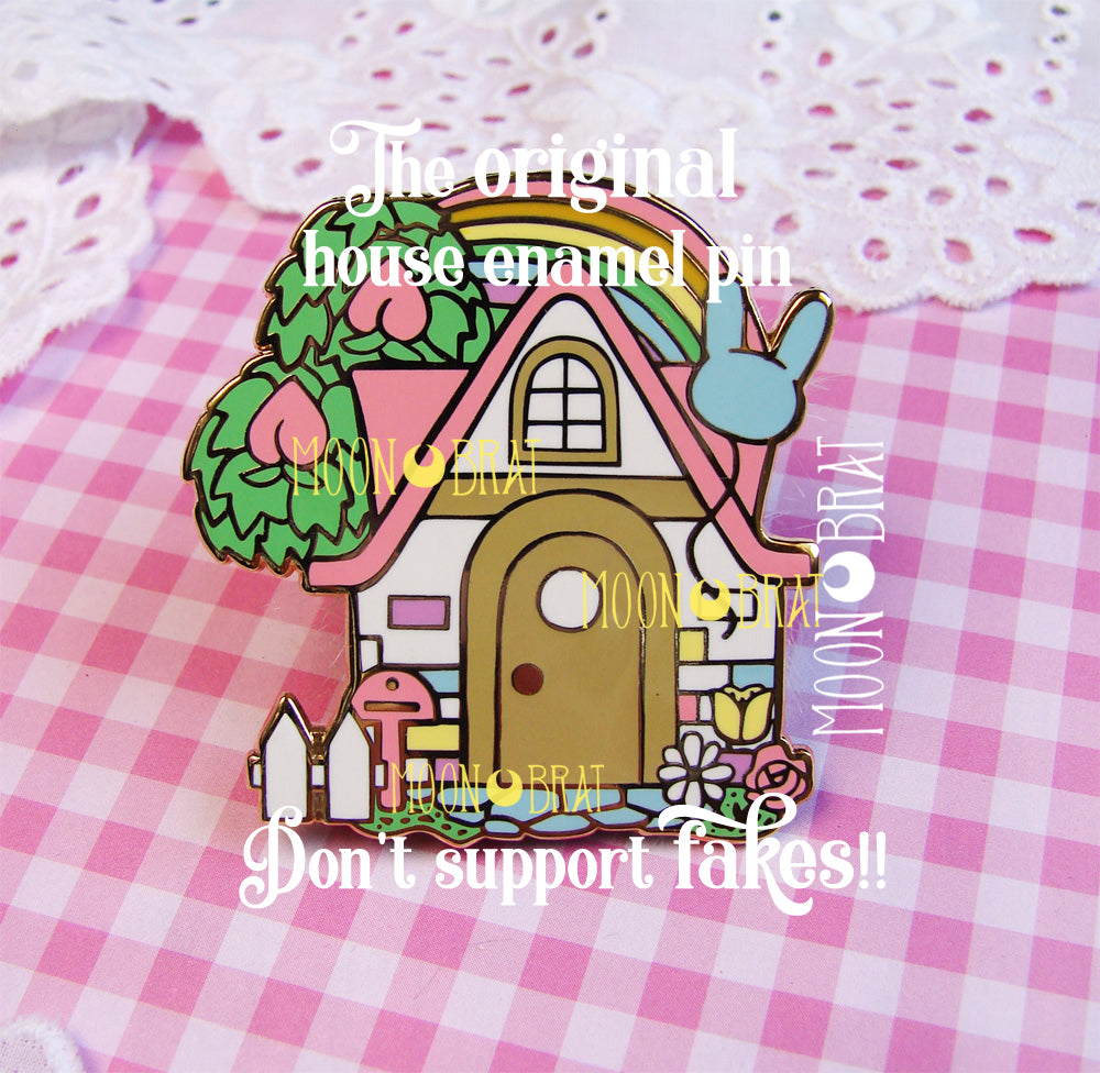 SECONDS Animal Crossing House Enamel Pin