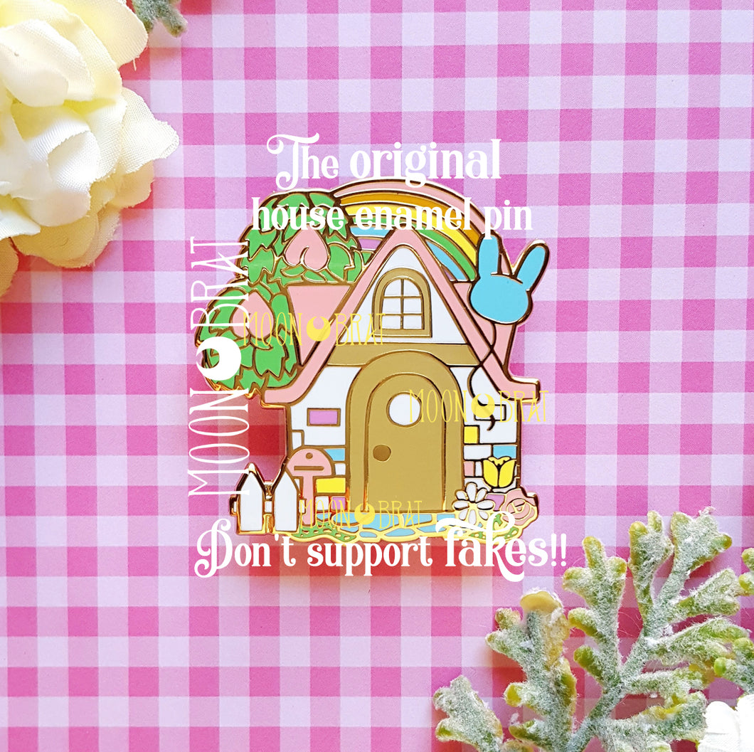 Animal Crossing House Enamel Pin