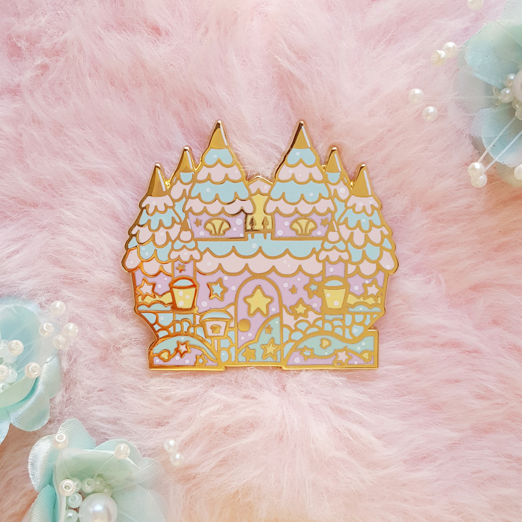 Mermaid Castle Enamel Pin