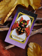 Load image into Gallery viewer, Dapper Bat Enamel Pin
