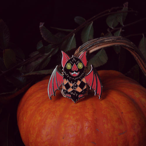 Dapper Bat Enamel Pin