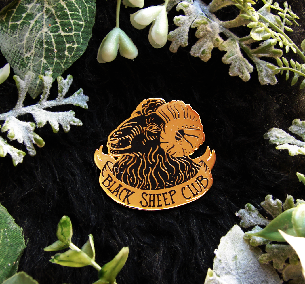 SECONDS Black Sheep Enamel Pin