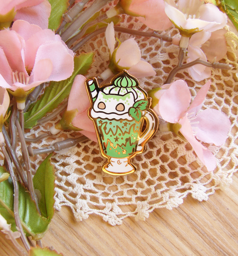 Bulbasaur Latte Enamel Pin
