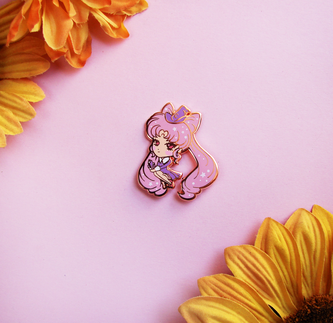 Chibi Moon Witch Enamel Pin