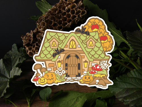 PREORDER Autumn Animal Crossing House Sticker