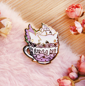 SECONDS Ghost Trio Latte Enamel Pin