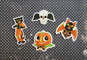Vintage Halloween Sticker Set